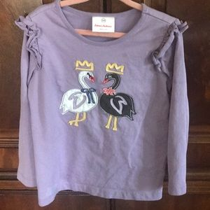 Hanna Anderson long sleeve t-shirt with swans